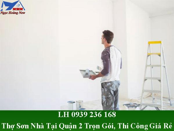 Thợ sơn nhà tại quận 2 trọn gói