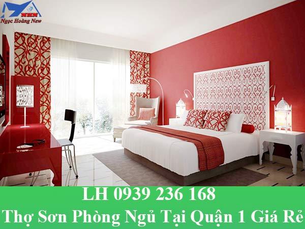 Thợ sơn phòng ngủ tại quận 1 đẹp và giá rẻ