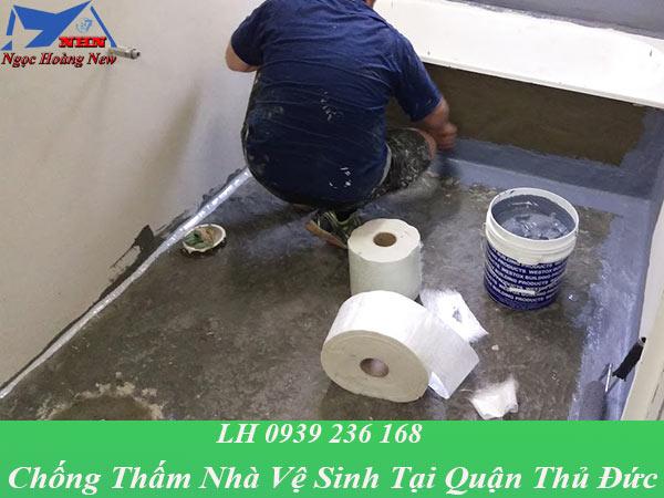 Thợ chống thấm nhà vệ sinh tại quận thủ đức giá rẻ