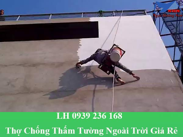 Thợ chống thấm tường ngoài trời chuyên nghiệp