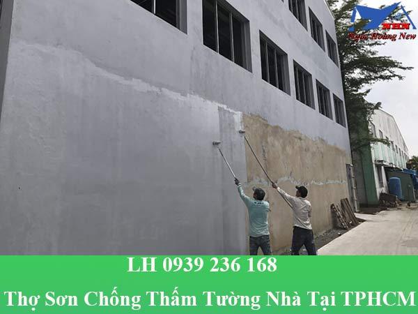 Thợ sơn chống thấm tường nhà tại TPHCM giá rẻ