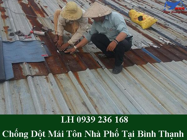 Dịch vụ chống dột mái tôn nhà phố tại quận bình thạnh