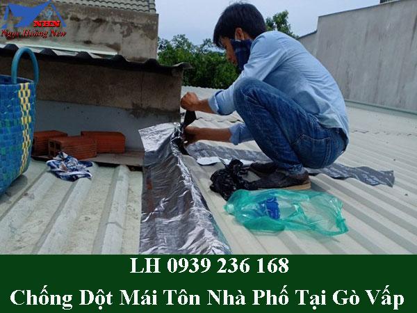 Thợ chống dột mái tôn nhà phố tại quận gò vấp