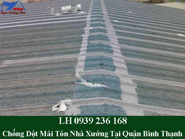 Dịch vụ chống dột mái tôn nhà xưởng tại quận bình thạnh