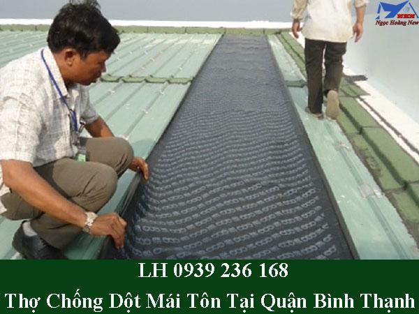 Thợ chống dột mái tôn tại quận bình thạnh giá rẻ