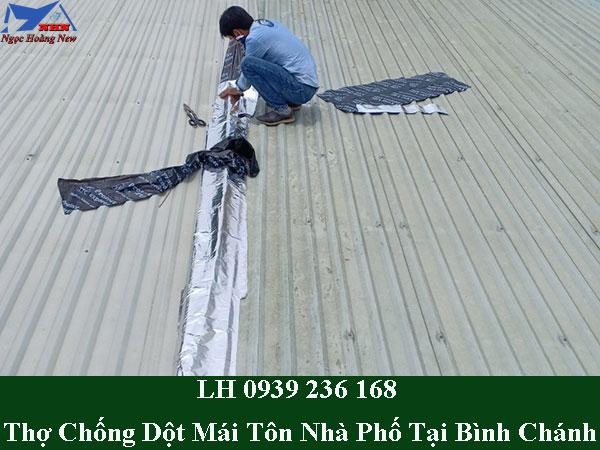 Dịch vụ chống dột mái tôn nhà phố tại bình chánh giá rẻ