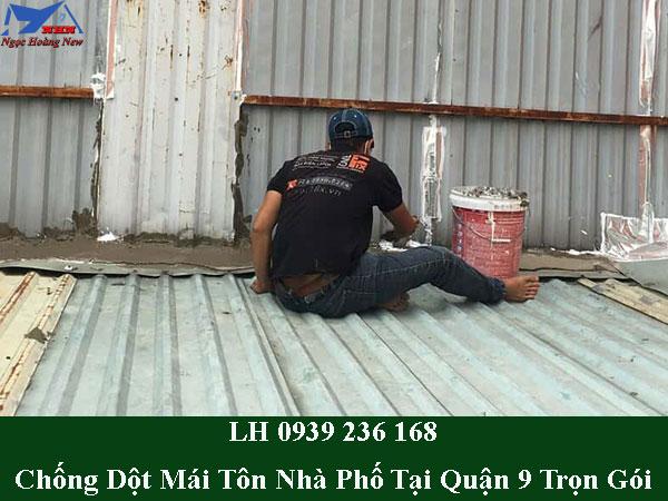 Dịch vụ chống dột mái tôn nhà phố tại quận 9