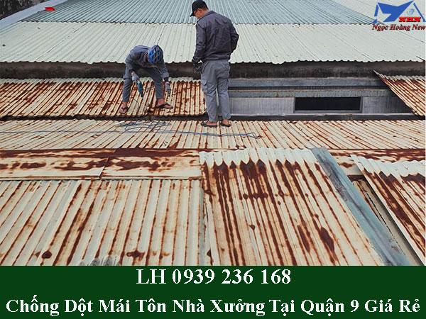Dịch vụ chống dột mái tôn nhà xưởng tại quận 9 trọn gói