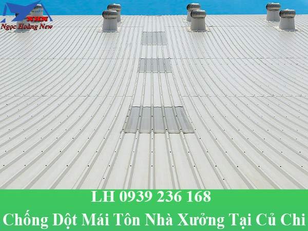 Công ty chống dột mái tôn nhà xưởng tại củ chi