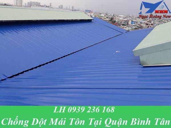 Dịch vụ chống dột mái tôn tại quận bình tân