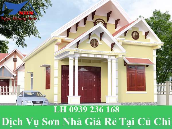 Dịch vụ sơn nhà giá rẻ tại huyện củ chi