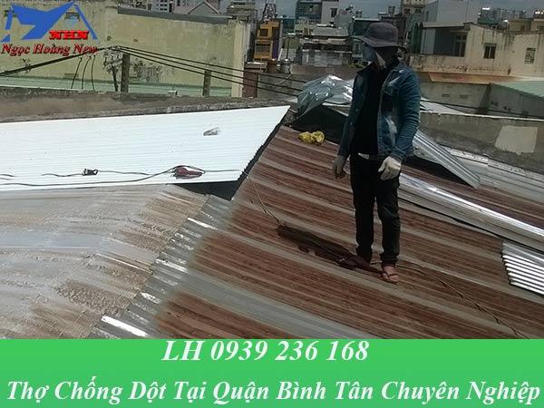 Thợ chống dột mái tôn tại quận bình tân triệt để