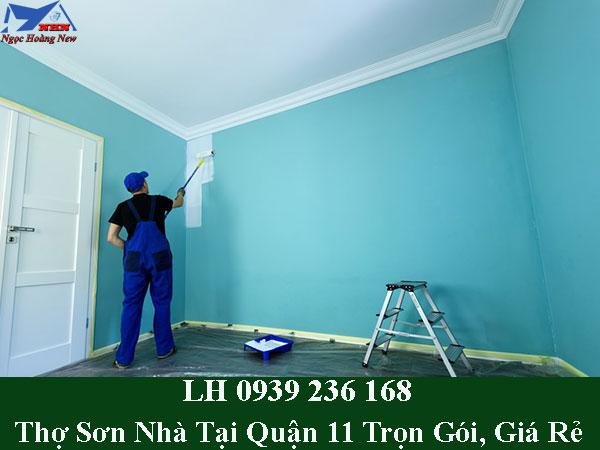 Thợ sơn nhà tại quận 11 trọn gói, thi công giá rẻ