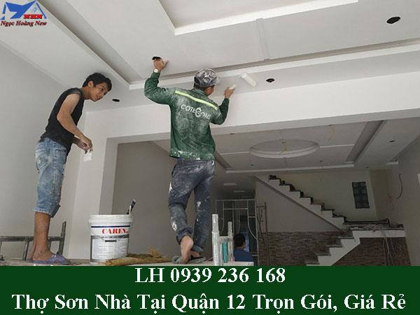 Thợ sơn nhà tại quận 12 trọn gói, giá rẻ