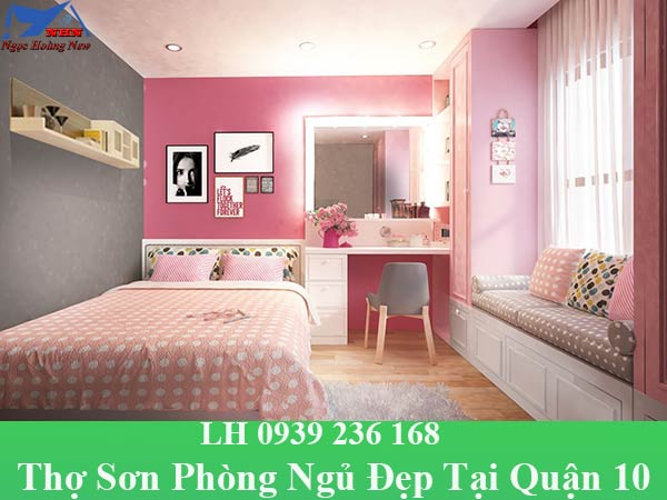 Thợ sơn phòng ngủ tại quận 10 đẹp, chuyên nghiệp