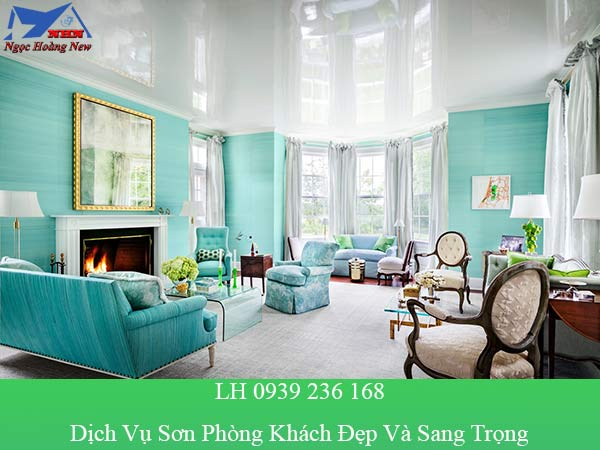 Dịch vụ sơn phòng khách đẹp và sang trọng